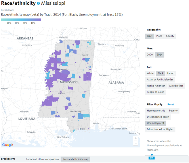 Census Race Map on