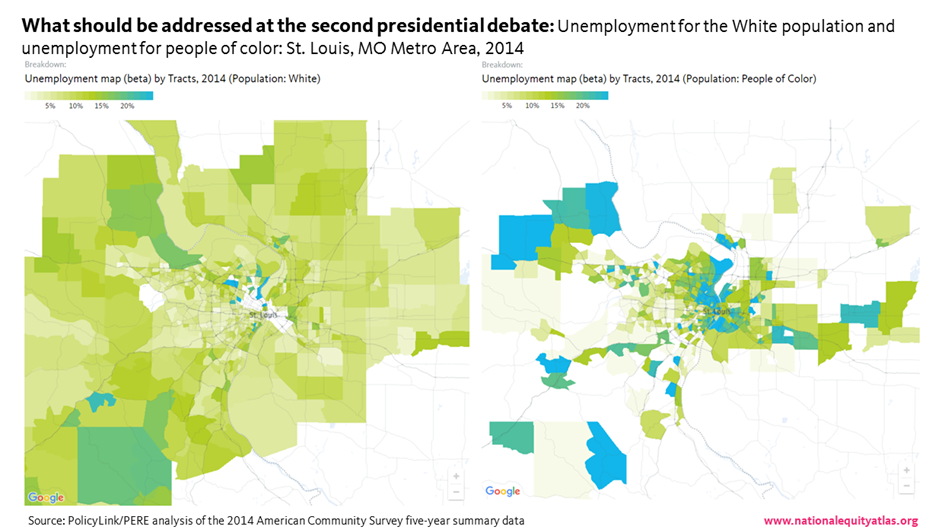 Chart Of The Week Mapping Unemployment In St Louis National - St Louis Missouri On Map Of Us