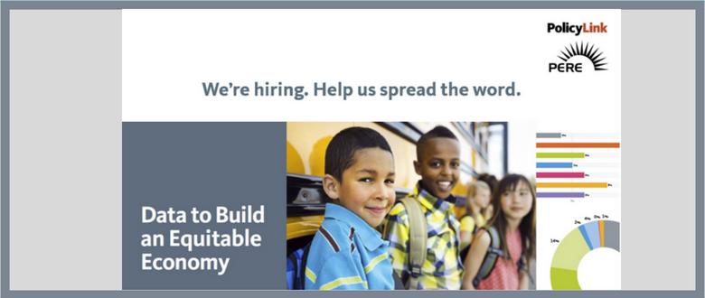 We're Hiring a Senior Associate, Equitable Economy/National Equity Atlas